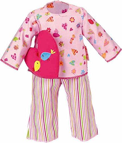Käthe Kruse 33991 - Pyjama mit Herzkissen 30-33 cm, rosa