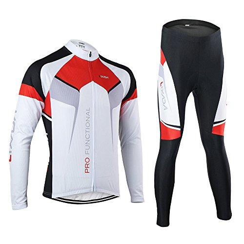 Lixada Frühling/Herbst Männer Radfahren Kleidung Set Fahrrad Anzug Outdoor Langarmtrikot+ Hose Atmungsaktiv Schnell Trocken