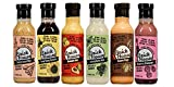 Keto Salad Dressing Variety Pack. Six different flavors of low carb & low sodium salad dressing / marinades by Brick House Vinaigrettes. Gluten free / Dairy free with sugar free & vegan options (6pk)