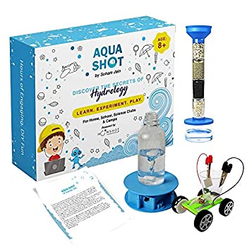 Aquashot Box - Set of 3 DIY Water Science Toys - Salt Water Powered Car Water Tornado Maker Water Purification System | STEM Learning Easy to Assemble A Great Science-Based Educational Activity