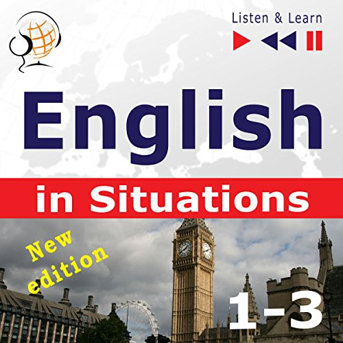 Couverture de English in Situations 1-3 - New Edition - A Month in Brighton / Holiday Travels / Business English. 47 Topics at Proficiency level B1-B2