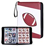 Football Cards Binder Holds Up to 720 Cards with 40 Sleeves, Famard Trading Card Binder with Wraparound Zipper and Convenient Carry Loop, 3-Ring Album for Card Collection Storage