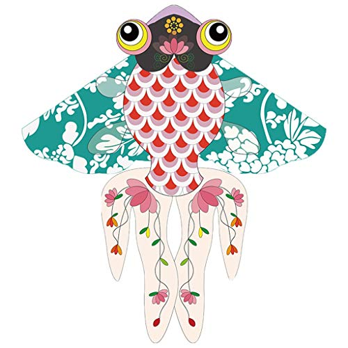 Best Delta Kite Chinese Style Adults Goldfish Kite Easy Fly for Kids and Beginner Single Line Tail Ribbons Stunning Colors Meticulously Designed Friend Large Kite Gift ( Size : 100m wire board )