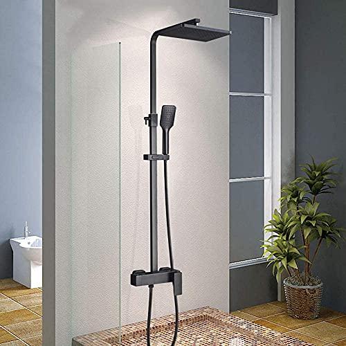 Juego de ducha de modelo dual negro de lujo Grifo de ducha Grifo de ducha negro frío y caliente Grifos mezcladores de ducha-Tipo A