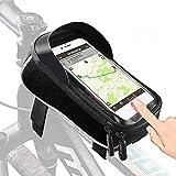 Tricodale Porta Celular Impermeable Estructura Bolsa de Transporte Bolsa Bicicleta de Carreras/Bicicleta de Montaña–con Lluvia y desbloqueo Touch-ID para Smartphone Samsung iPhone