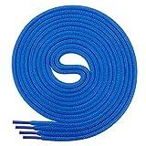 Di Ficchiano Schnürsenkel, Rundsenkel für Business- und Lederschuhe, reißfester Allroundsenkel, ø 3mm Farbe blau Länge 120cm