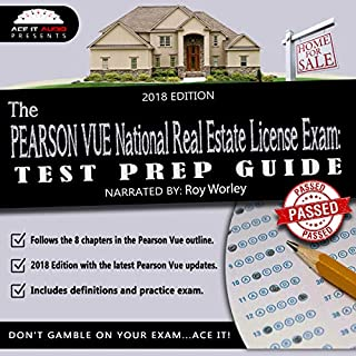 The PEARSON VUE National Real Estate License Exam: Test Prep Guide (2018 Edition) audiobook cover art