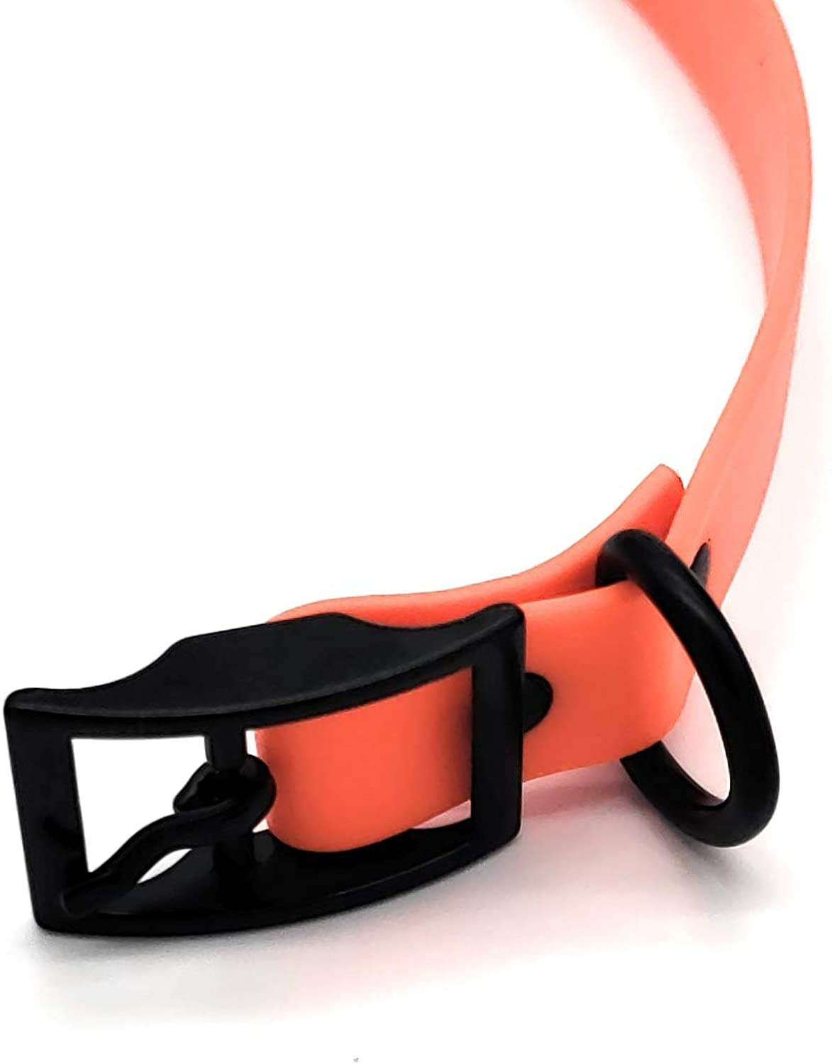 M,L, XL Biothane Dog Collars, Can Collar, Compra un Collar Help a Veteran.Meteo e Waterrepous Puppy e Dog Collar con Black Hardware per Grandi Cani e XL Dogs (Medium (13.2517.75') 1'Wide, Orange)
