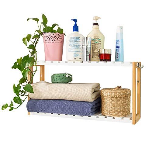 SoBuy® FRG27-WN,Estantería de pared, estantería de baño, librería, estantería de cocina de...