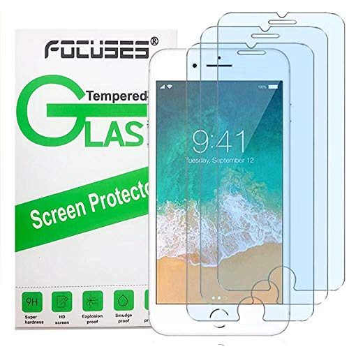 """Screen Protector iPhone 8,7,6S,6(4.7"""")(3 Pack),Focuses Anti-Blue Light Screen Protector [Eye Protect][Bubble Free] Tempered Glass for iPhone 8/7/6S/6"""