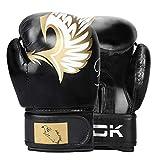 LINGSFIRE 10 oz Boxhandschuhe für Muay Thai und Training Leder Punchinghandschuhe für Sparring, Kickboxen, Kampfsport, Boxsack Punching, Fitness, Sandsack Boxing Gloves