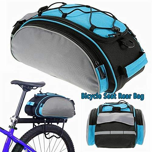 Fahrradtaschen Gepäckträger Wasserdicht Sitz Multifunktionale Tasche MTB Rennrad Rack Carrier 13L Fahrradtasche Packtasche mit Schultergurt