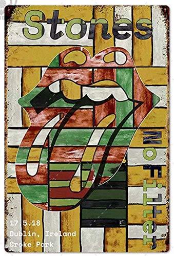XIAODAN 2014 Dublín Irlanda Home Old Vintage Metal Retro Placa de pared Cartel de pared Cartel de Café, Bar Pub Decoración Regalo 20 x 30 cm