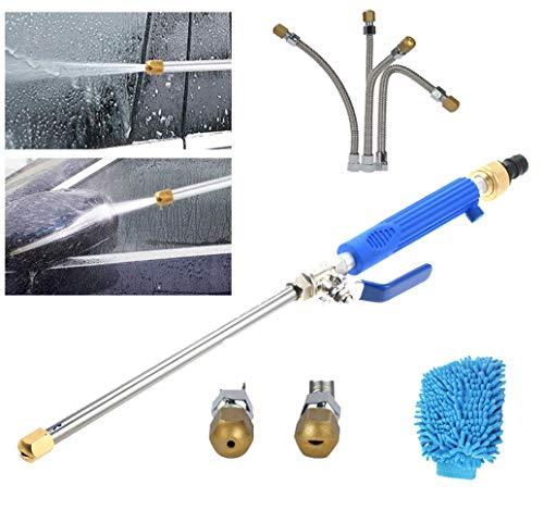 2-in-1 hogedrukreiniger, auto hogedrukreiniger met 2 mondstukken voor platform- of stoepreiniging,Blue