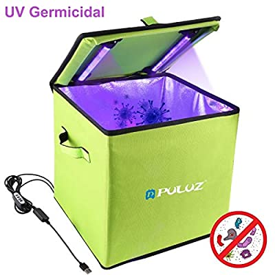 Addprime UVC Sterilizer Bag for Delivering Fastfood, Phone Sanitizer Bag for Cell Phone?Jewelry, Beauty Tools, 99% Cleaned
