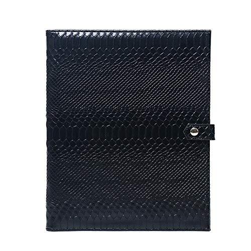 JPDP Cartelle per cartelle di moda per donna Cartella per laptop Borsa con pochette in pelle di pitone ricamata Borsa per Macbook Air Pro 13 pollici ipad nero