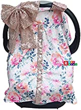 Rosy Kids Infant Carseat Canopy Cover 1pc Wind Proof Baby Car Seat Cover, Sunshade Cover, Fits Any Model, Color25OR02
