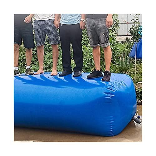 SHIJINHAO Contenedor Portador De Agua De Gran Capacidad para Exteriores, Bolsa De Almacenamiento De Agua Plegable Espesa (Color : Blue, Size : 750L/1.5x1x0.5M)
