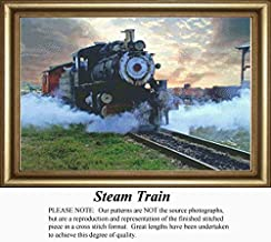 Steam Train, Vintage Counted Cross Stitch Pattern (Pattern Only, You Provide the Floss and Fabric)