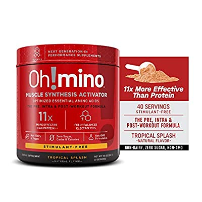 Oh!mino Muscle Synthesis Activator Newly Flavored (Stimulant-Free, 40 Servings 280grams) Amino Acids Supplement, Electrolytes Powder, Pre, Intra, Post Workout Recovery Drink, – Oh! Nutrition