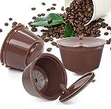 Nachfüllbare Kaffeekapseln, wiederverwendbare braune Kaffeekapseln, Filterbecher, kompatibel mit...