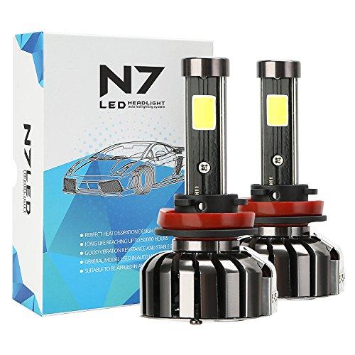 CICMOD 80W LED Kit de Conversion Headlight LED Projecteur Voiture Ampoule de Phare Avant CREE S/N 8000LM 6000K Lampes Auto Ampoules Blanc, H8/H9/H11/H16 (1 Paire)
