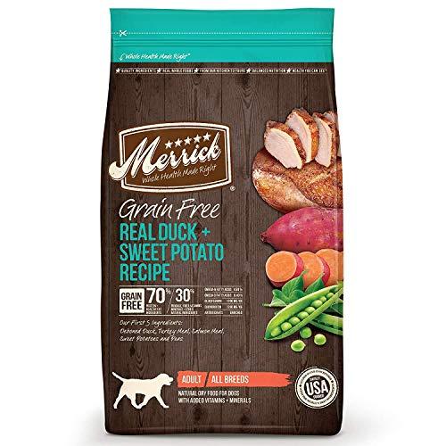 Merrick 12 LB Dry Dog Food, Duck & Sweet Potato Formula, Grain Free...