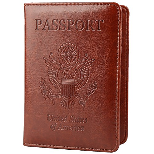 GDTK Faux-Leather Passport Holder Cover