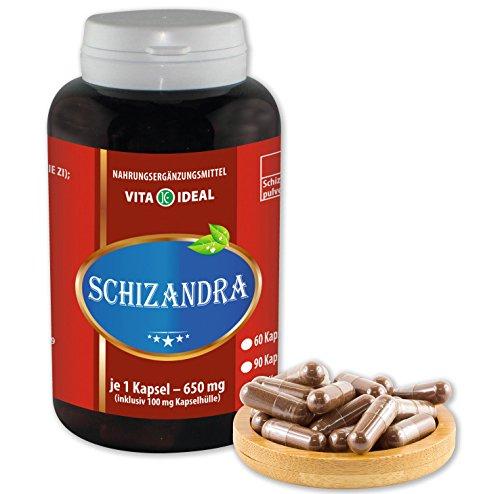 VITA IDEAL ® Schisandra (Schizandra, Wu Wie Zi) 360 Kapseln je 650mg, aus rein natürlichen Kräutern, ohne Zusatzstoffe