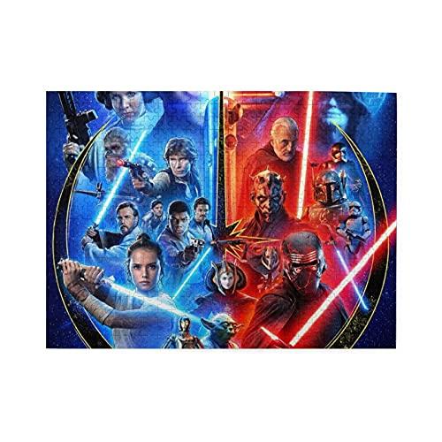 Star Wars - Puzzle de 500 piezas para adultos y familias, alivio del estrés, decoración del hogar