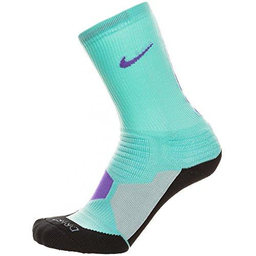 Nike Crew Socks Hyperelite Basketball, Bleached Turq, XL