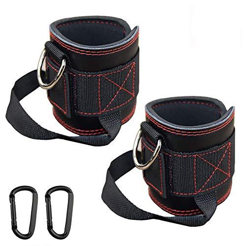 HemeraPhit - Cavigliera in vera pelle, imbottita, con anello a D, per allenare le gambe, per donne e uomini