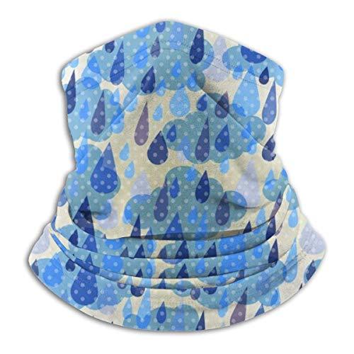 Jwohek Nubes y lluvia con puntos Microfibra Calentador de cuello Sombreros Bufanda Clima fro Invierno Deportes al aire libre Bandana Balaclava Unisex