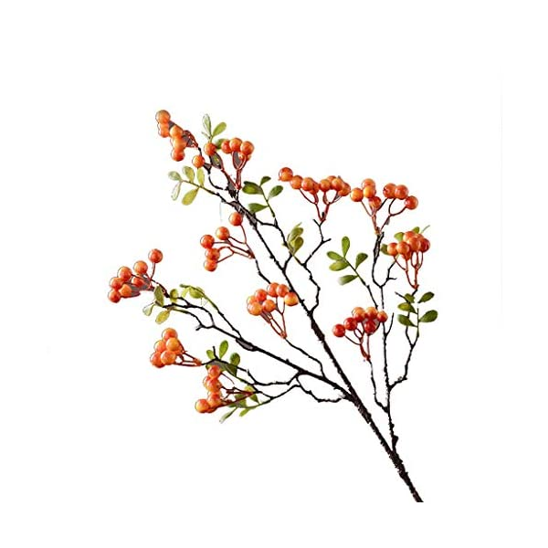 XXT Fake Flower. Home Living Room Decorations Fake Flowers Simulation Flowers Autumn Fruit Branch Decoration