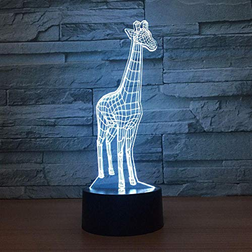 3D Lamp Giraffe 7 Colors Led Night Lamps For Kids Touch Led Usb Table Baby Sleeping Nightlight Novelty