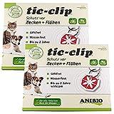 2 Anibio Tic Clip für Hunde und Katzen (2 Packungen à 1 Stück)