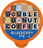 Blueberry Coffee in Recyclable Single Serve Pods, Flavored Coffee for the Keurig K Cups Brewer, from Double Donut, 24 Cups