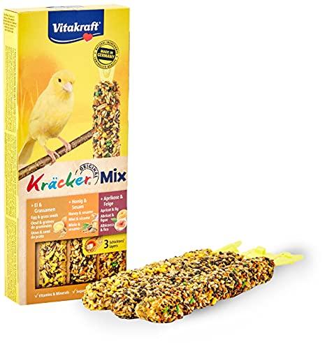 Vitakraft Vogelsnack Kanarien Kräcker Mix Ei,Frucht,Honig, 1x 3 St