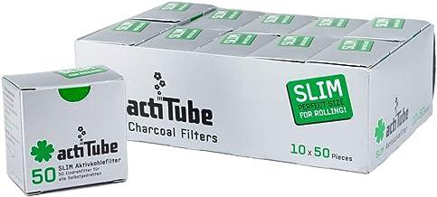 Weedness Actitube Slim Actif 3x50-7 mm 150 Pi/èce Filtre /à Insertion Filtre Tips 6 X Long Paper 3 Packungen
