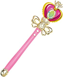 YOOMUN Cosplay Props Anime Cosplay Sailor Moon Wand Rod Glow Stick Spiral Heart Moon Rod Musical Magic Wand-Heart Moon Rod Musical Magic Wand Girl Toys