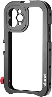 ULANZI Aluminum Video Cage for iPhone 11 Pro, Protective Smartphone Vlog Frame Housing w Lens Adapter / 1/4'' Tripod Screw...