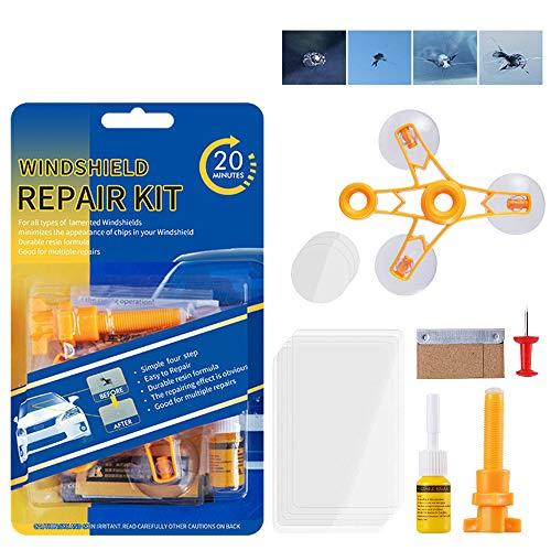 Upgraded Windshield Repair Kit – Premium Repair Rasin Vehicle Windshield Crack Repair Tools for...