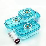 Fiambrera Juego de 4 piezas de caja de almacenamiento de plástico al vacío, contenedor de...