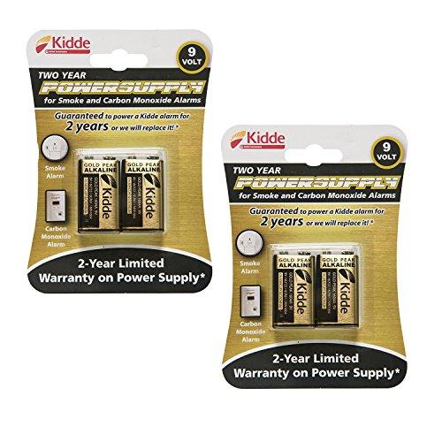 Kidde 21025830 Power Source Replacement Batteries 2 pack (total of 4 batteries)