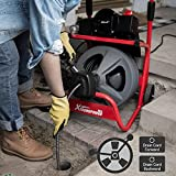 XtremepowerUS 260W Drain Cleaner Machine 80' ft x 1/2 Inch Electric Drain Auger with 3 Cutter & Foot Switch Autofeed