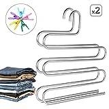 AIDBUCKS Perchas para Pantalones S Tipo Perchas Pantalones Antideslizantes Multifuncion Hanger...