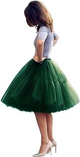 Babyonline Lady's Princess Tutu Tulle Midi Knee Length Skirt Underskirt