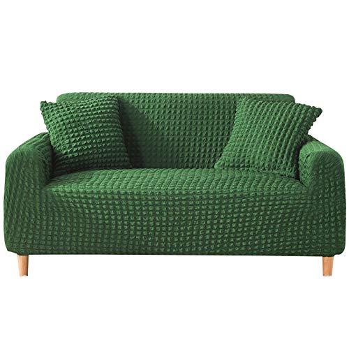 NOBCE Funda de sofá elástica Fundas elásticas Funda de sofá Todo Incluido para sofá de Diferentes Formas Funda de sofá Estilo L Verde Oscuro 235-300CM