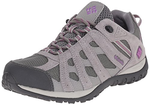 Columbia Women's Redmond Waterproof Hiking Shoe, Charcoal, Razzle, 6.5 B US