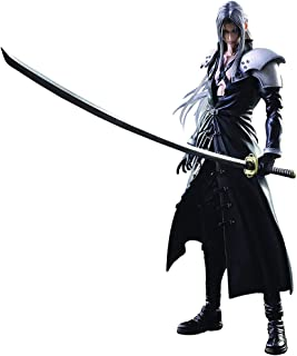 Siyushop Final Fantasy Advent Children: Sephiroth Play Arts Kai Action Figure - Sephiroth Action Figures - Equipped with Weapons, Wings and Replaceable Hands - High 27CM
